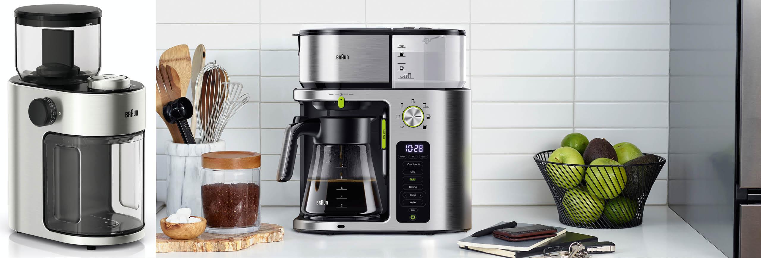 Filterkaffeemaschine und - mühle von Braun