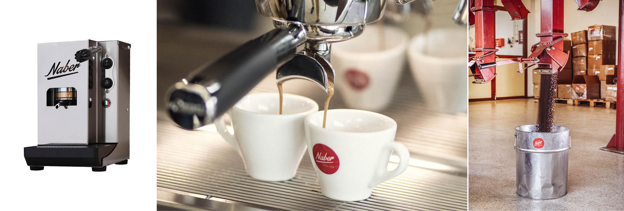 Kaffeemaschine und Pads von Naber